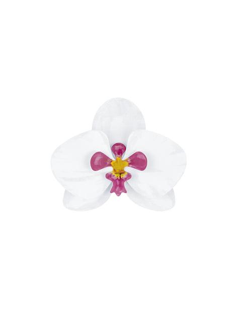 6 orquídeas blancas y moradas para mesa - Aloha Turquoise - barato
