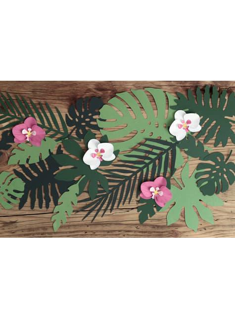 6 orquídeas blancas y moradas para mesa - Aloha Turquoise - comprar