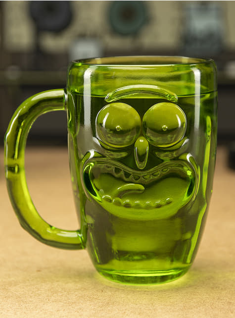 3D Pickle Rick kristal glas - Rick and Morty