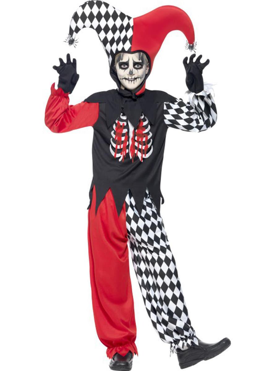 Harlequin Harley Quinn Super Villian Jester Joker Clown Lady Fancy Dress Costume