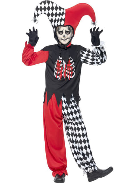 Bloody Hharlequin costume for Kids