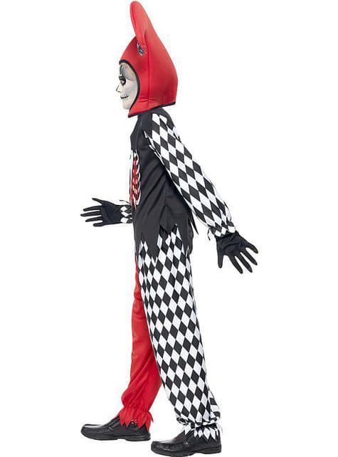 Disfraz de arlequín sangriento para niño - original