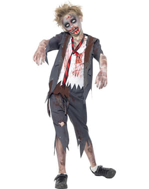 Costum de student zombie pentru băiat