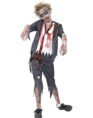 Zombie schooljongen kostuum voor kind