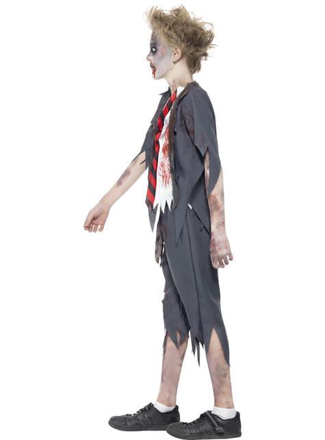 Disfraz de estudiante zombie para niño - original