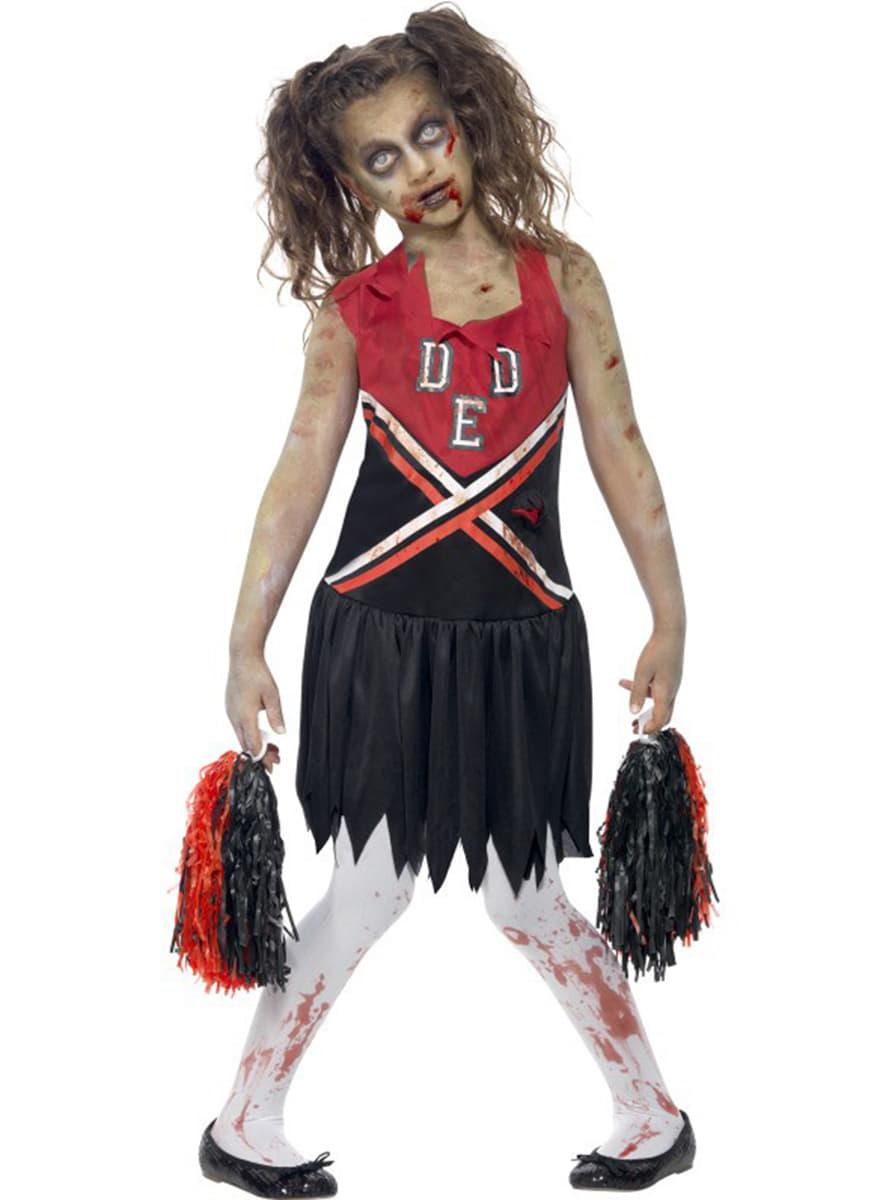 Disfraz de animadora zombie para nia Funidelia