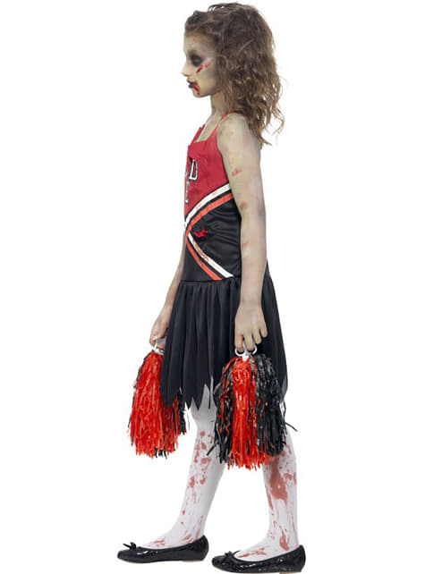 Zombie Cheerleader costume for a girl