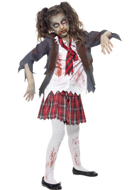 Kostium uczennica zombie dla dziewczynki