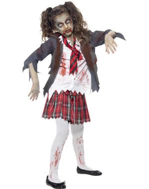 Zombie Studentin Kostüm für Mädchen