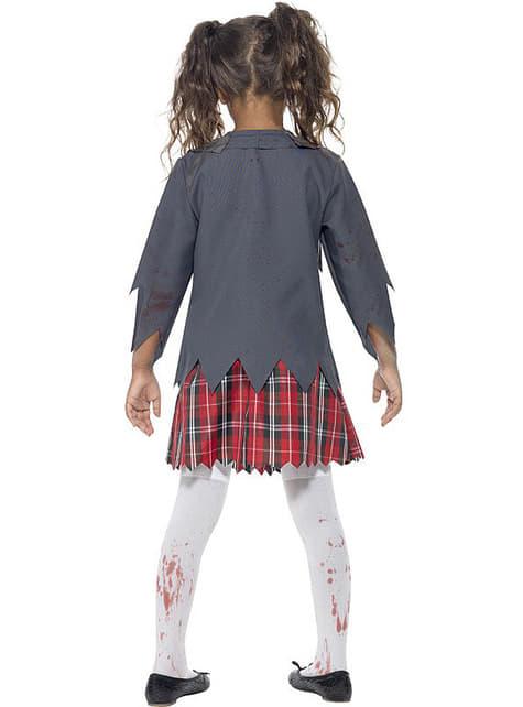 Disfraz de estudiante zombie para niña - Halloween