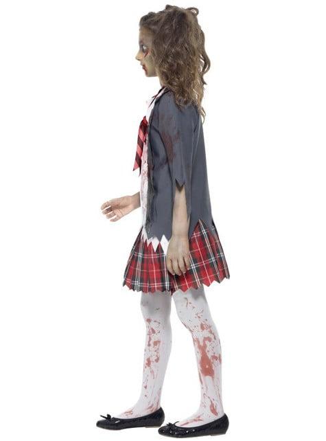 Disfraz de estudiante zombie para niña - Carnaval