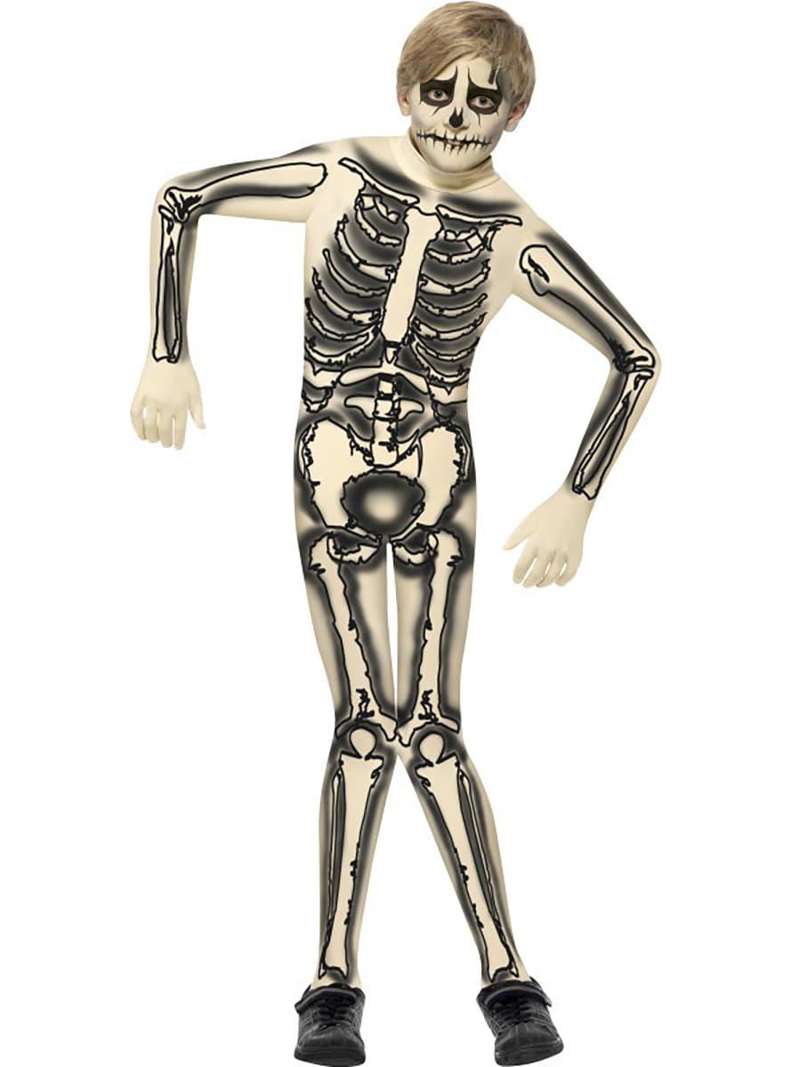Disfraz de esqueleto segunda piel para niño. Have Fun! | Funidelia