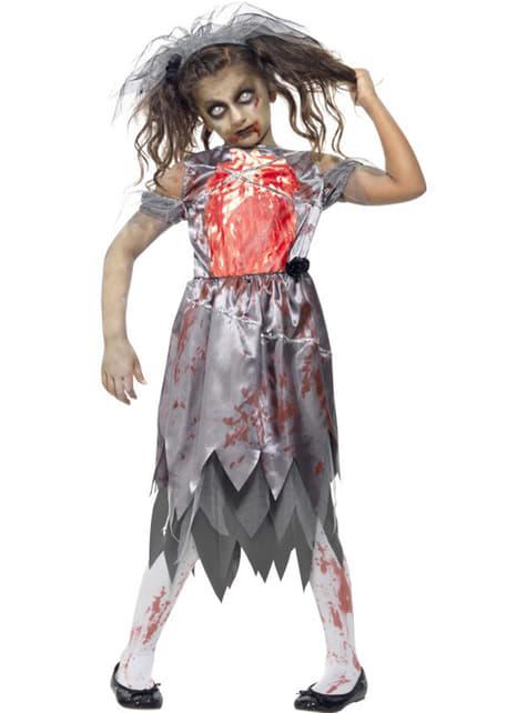 Zombiebrud Maskeraddräkt Barn