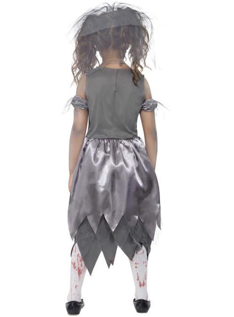 Disfraz de novia zombie para niña - niña