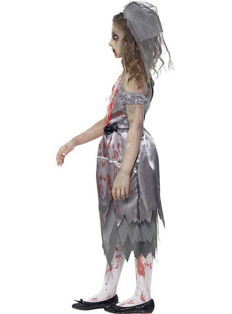 Disfraz de novia zombie para niña - original