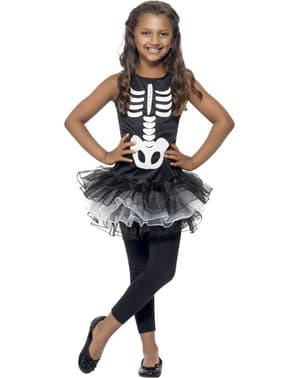 Déguisement squelette tutu pour fille