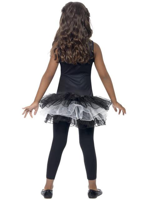 女の子用骸骨チュチュ衣装