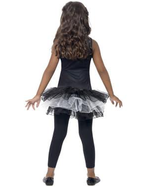 Fato de esqueleto tutu para menina