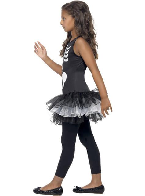 Disfraz de esqueleto tutú para niña - original