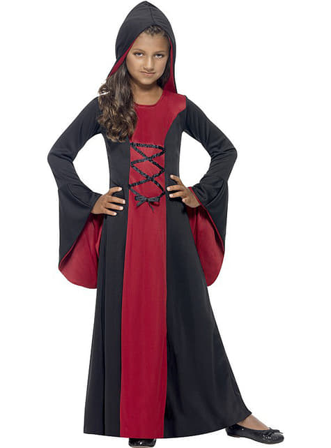 Vampiresse Dame Kostüm für Mädchen
