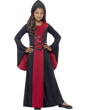Vampyrdame kostyme for jente