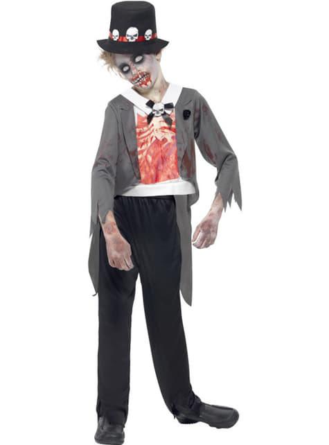 Disfraz de novio zombie para niño