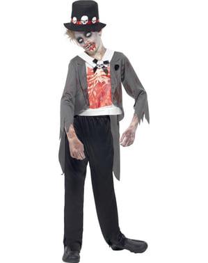 Fato de noivo zombie para menino