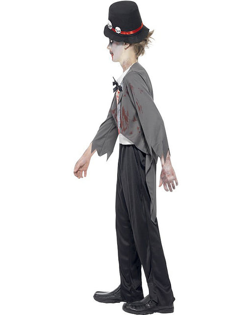 Zombie groom costume for a boy