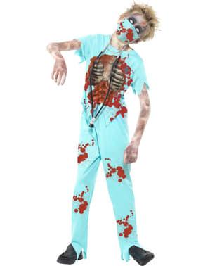 Kostum doktor zombie untuk kanak-kanak