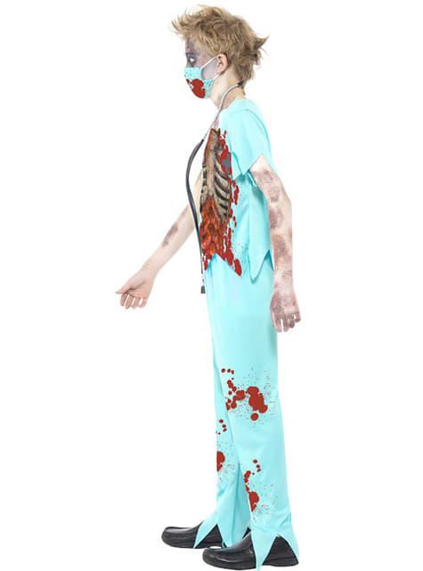 Disfraz de médico zombie para niño