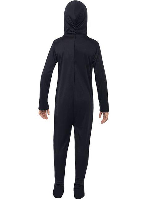 Dětský kostým černý kostlivec