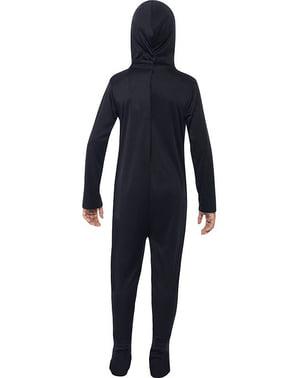 Disfraz de esqueleto negro para niño