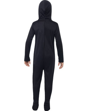 Zwart skelet Kostuum voor jongens