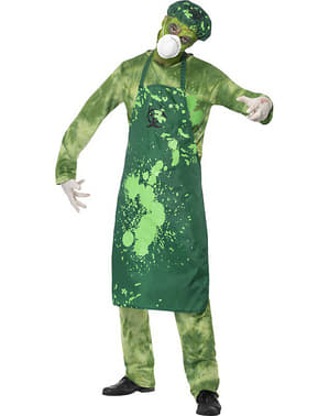 Biological contamination costume for a man