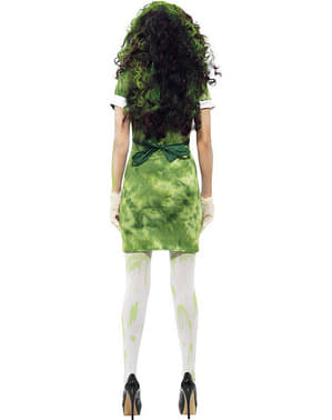 Biological contamination costume for a woman