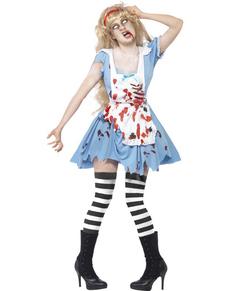 Fato de Alice zombie para mulher