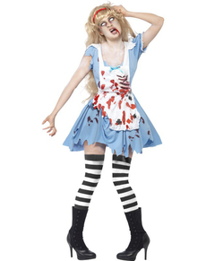 Zombie Alice costume for a woman