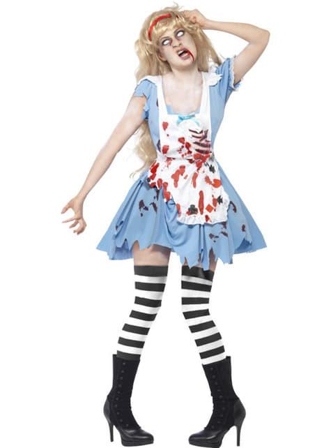 Strój Alicja zombie damski