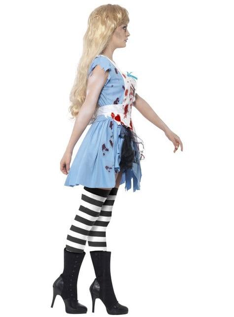 Alice als zombie Kostuum voor vrouw