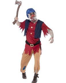 Zombie dwarf costume for a man