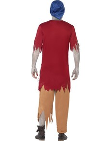 Kostuum dwerg als zombie voor mannen