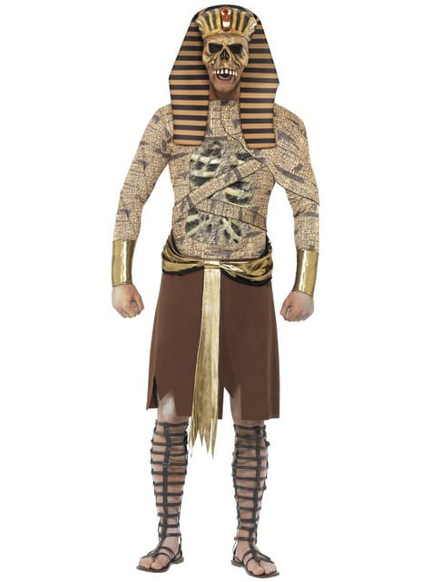 Fato de faraó egípcio zombie para homem