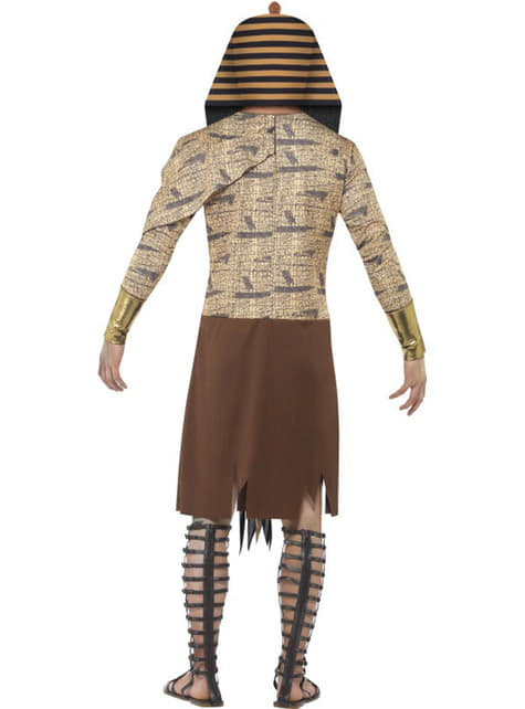Zombie Egyptian pharoah costume for a man