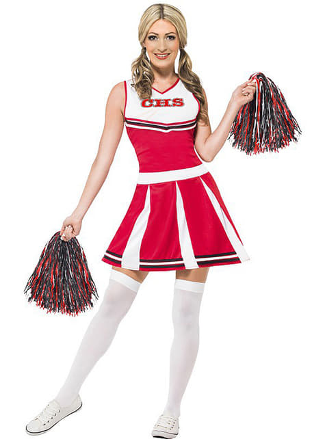 University cheerleader costume for a woman