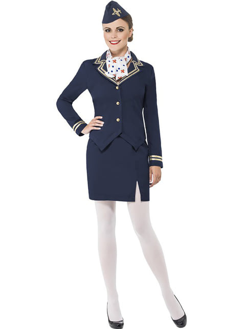 High flying air stewardess costume for a woman