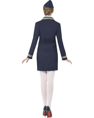 Blue Air Hostess Costume for Women