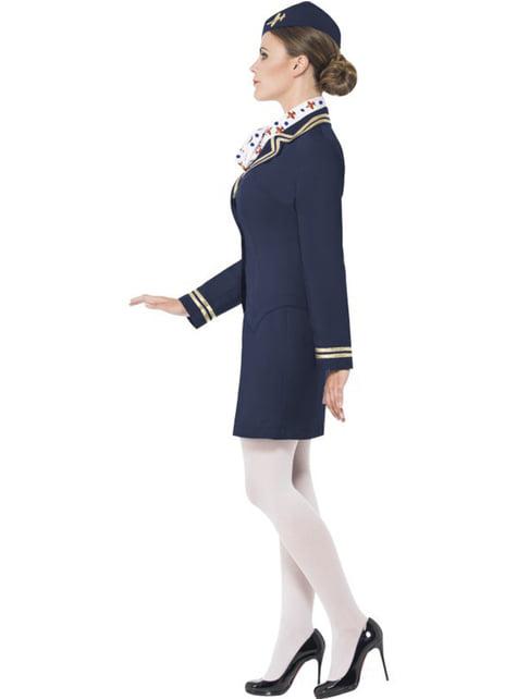 Μπλε Γυναικεία Στολή Αεροσυνοδός