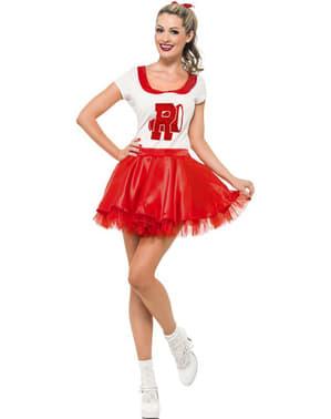 Sandy cheerleader kostum untuk seorang wanita