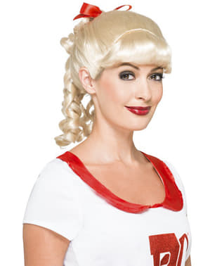 Sandy cheerleader kostuum voor vrouw