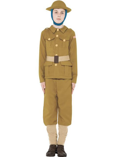 Disfraz Primera Guerra Mundial Horrible Histories para niño